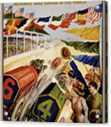 Indianapolis Motor Speedway Vintage Poster 1909 Acrylic Print