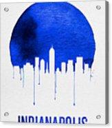 Indianapolis Skyline Blue Acrylic Print