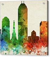 Indianapolis Skyline Panorama Usinin-pa03 Acrylic Print