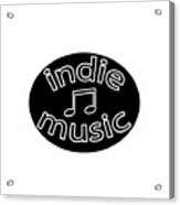 Indie Music Acrylic Print