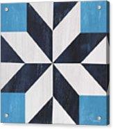 Indigo And Blue Quilt Acrylic Print