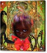 Indigo Children Acrylic Print by Joseph Mosley