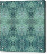 Indigo Lotus Lace Pattern 1 Acrylic Print