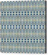 Indigo Ocean - Caribbean Tile Inspired Watercolor Swirl Pattern Acrylic Print