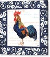 Indigo Rooster 2 Acrylic Print