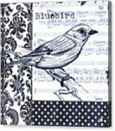 Indigo Vintage Songbird 1 Acrylic Print