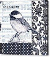 Indigo Vintage Songbird 2 Acrylic Print