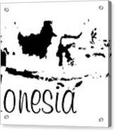 Indonesia In Black Acrylic Print
