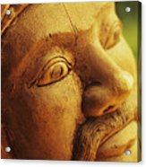 Indonesian Wood Carving Acrylic Print