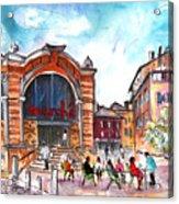 Indoor Market In Albi Acrylic Print