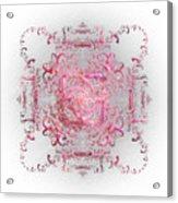 Indulgent Pink Lace Acrylic Print