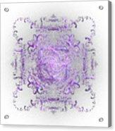 Indulgent Purple Lace Acrylic Print