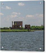 Industrial Banks Of The Charleston Harbor Acrylic Print