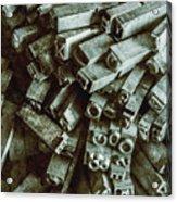 Industrial Letterpress Typeset  Acrylic Print