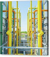 Industrial Piping Acrylic Print