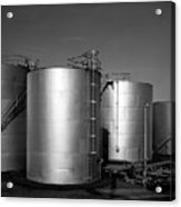 Industrial Storage Tanks Acrylic Print