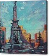 Indy Circle- Day Acrylic Print by Donna Shortt