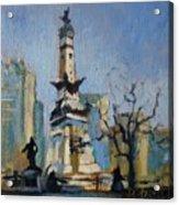Indy Circle Monument Acrylic Print by Donna Shortt