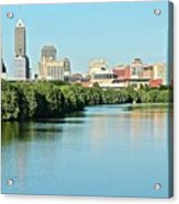 Indy White River View Acrylic Print