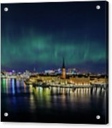 Infinite Aurora Over Stockholm Acrylic Print