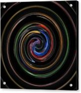 Infinite, Ever Expanding Image. Colorful And Classic Spiral Digital Art That Can Enhance Your Mood. Acrylic Print