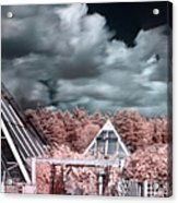 Infrared Glass Pyramids Panorama Acrylic Print