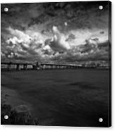 Infrared Longboat Pass Bridge Acrylic Print