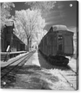 Infrared Train Acrylic Print