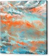 Infused Energy- Turquoise And Orange Art Acrylic Print
