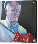 Inis Mor Accordian Player Acrylic Print