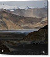 Initial Vision Of Pangong Lake Acrylic Print