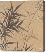 Ink Painting Stone Bamboo Acrylic Print
