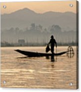 Inle Lake Fisherman Acrylic Print