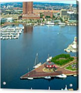 Inner Harbor Baltimore Panorama Acrylic Print