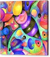 Insect Masquerade Party Acrylic Print