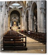 Inside Beautiful Church In Rome Acrylic Print