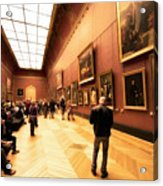 Inside Louvre Museum  Acrylic Print by Charuhas Images