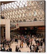 Inside Louvre Museum Pyramid Acrylic Print by Mark Czerniec
