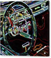 Inside Of A Classic Car Acrylic Print