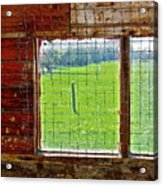 Inside The Barn Acrylic Print
