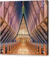 Inside The Cadet Chapel Acrylic Print