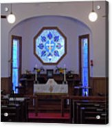 Inside The Church Of The Mediator Acrylic Print