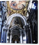 Inside The Church Santa Maria Della Salute In Venice Acrylic Print