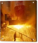 Inside The East-slovakian Steel Mill Acrylic Print by James L. Stanfield