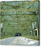 Inside The Falls Bridge - Winter Acrylic Print