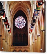 Inside The National Cathedral Acrylic Print