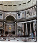 Inside The Pantheon Acrylic Print