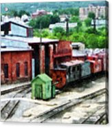 Inside The Train Yard Acrylic Print