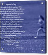 Inspiration For Today Runner  Acrylic Print
