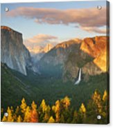 Inspiration Point Yosemite Acrylic Print by Buck Forester